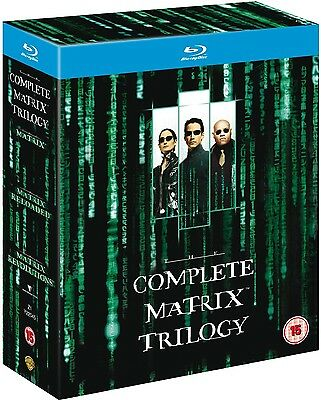 The Matrix Trilogy (Blu-ray, 3-Disc Set, Region-Free) *BRAND NEW/FACTORY SEALED*