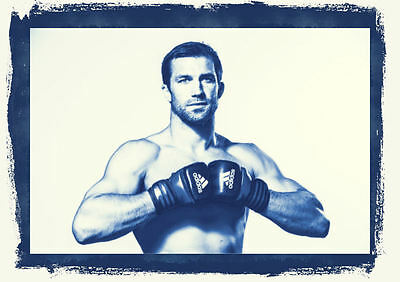 Framed Print - Luke Rockhold UFC Middleweight Fighter (MMA Picture Poster Art)