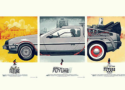 A4 Poster - 3 in 1 Back to the Future Movie Posters (Delorean Picture Print Art)