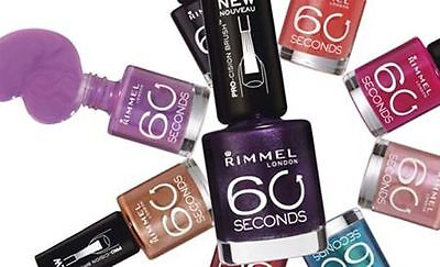 Rimmel 60 Seconds Nail Polish/varnish 8Ml *choose Your Shade*