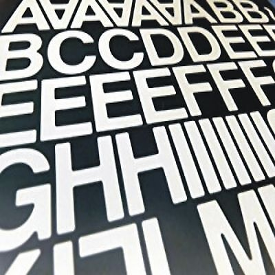"""1"""" (25mm) STICKY BACK SELF ADHESIVE VINYL LETTERS AND NUMBERS DIY (WHITE)"""