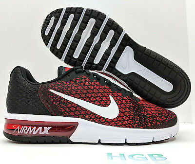 NIKE AIR MAX Sequent 2 Mens Red Black Running Training 852461 006 ... cf7ce13ed6