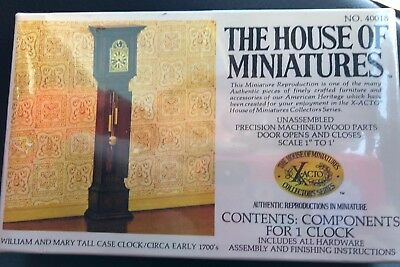 🕰 NEW X-Acto The House of Miniatures William & Mary Tall Case Clock #40018 1700