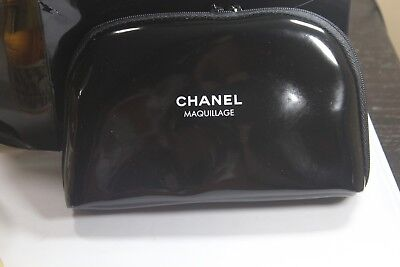 6d7974890b30 Chanel Maquillage Cosmetic Makeup Bag Black New