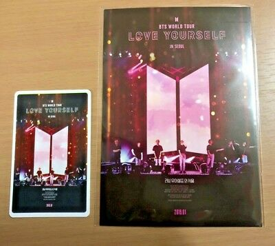 BTS 'Love Yourself in Seoul' Movie CGV Limited Postcard + Photo ticket + Gifts