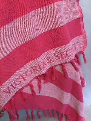 2d5489f9716ad VICTORIA'S SECRET PINK Striped Beach Throw Blanket Summer Fringe 40