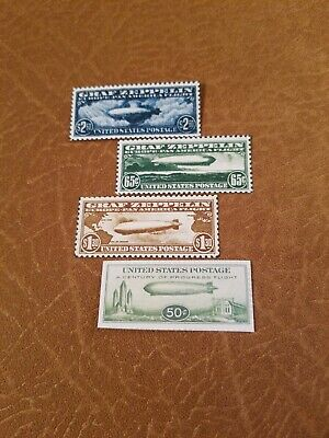 US Stamps # C13 C14 C15 USA Graf Zeppelin Air Mail Set (Unperf Facsimile)