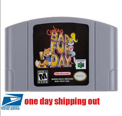 New Tested Conker's Bad Fur Day Nintendo 64 N64 System Games Video Exclusive US