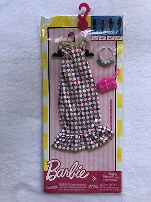 New In Package Mattel Barbie Doll Dress W/ Necklace And Purse