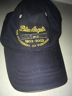 US Navy Vintage Blue Angels StrapBack Hat Blue Black Embroidered Cap aef8bb52318f