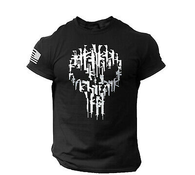 The Punisher Men's T Shirt Guns Skull Gym Black Shirt