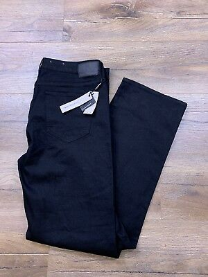 c864fcad4a Calvin Klein Women s Straight Infinite Black Jeans Pants Stretch 36x32 NWT