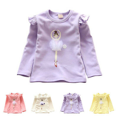 Cute Baby Kids Girl Clothes Autumn Spring Warm Long Sleeve T-Shirt Blouse Tops