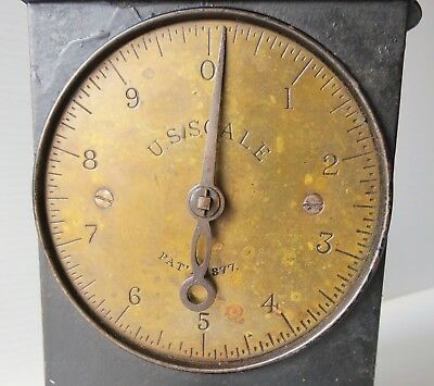 Antique Cast Iron with Brass Face U.S. Scale PAT'D 1877
