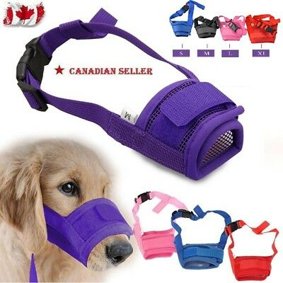 Dog Mask Muzzle Pet Stop Bite&Anti Barking Training Chewing All Small/Large CA.C