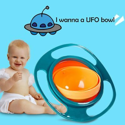 Baby Kids Infant Feeding Dishes Gyro-Bowl Universal 360 Rotate Spill Proof Bowl
