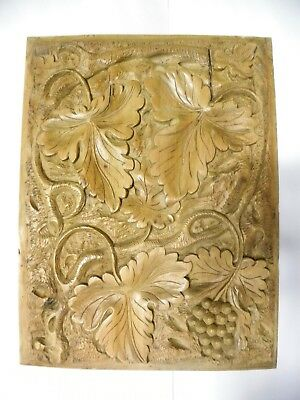 Wonderful Vintage Antique Solid Wood Carved Panel (A20)