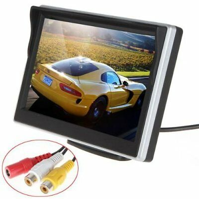 5 Inch Hd (800480Rgb) Tft Lcd Digital Car Rear View Monitor 2 Video Input Vehicl