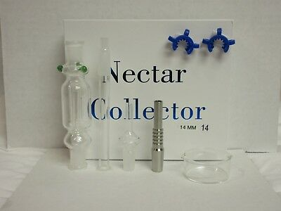 14Mm Nectar Collector - Titanium & Quartz Tips/ 2 Clips *free Same Day Shipping*