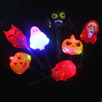 Creative Halloween Pumpkin Ghost Skull Witch Plastic Glow Stick Light-Up Toys