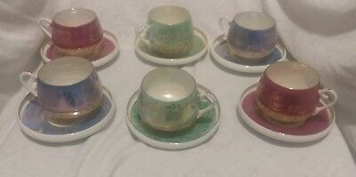12pcs Vintage Royal Crown Nobility Demitasse Bone China Tea Cup And Saucer 3272