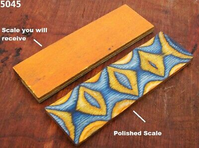 "5"" Pair of Exotic Wood Scales Knife Handle Making Blanks Bush Crafts TOP! (5045"
