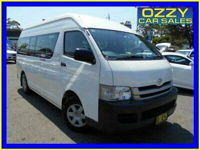 2009 Toyota Hiace TRH223R MY07 Upgrade Commuter White Automatic 4sp A Bus