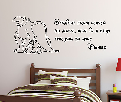 dumbo baby quote wall decal sticker vinyl disney for home kids