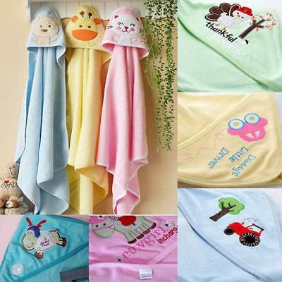 Cotton Cartoon Newborn Baby Hold Blanket Soft Baby Towel Bath Towel with Cap