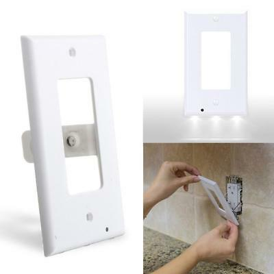 Duplex Night Angel Light Sensor LED Plug Cover Wall Outlet Cover plate