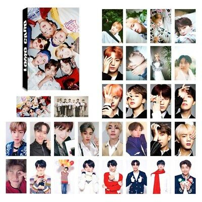30 Pcs /set KPOP BTS Bangtan Boys Love Yourself Album Self Made Lomo Cards JIN V