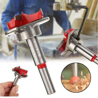 35mm Hole Saw Woodworking Core Locating Drill Bit Hinge Cutter Forstner Bit UK