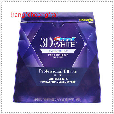 1 Box Crest3D Professional Effects Teeth Whitening Whitestrips 40 Strips