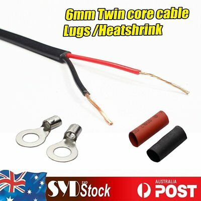 6MM Twin Core Cable 12V Wire Copper Electrical Automotive CARAVAN Solar Pannel
