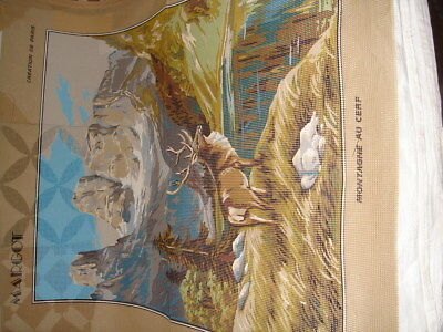 Margot  Large MONTAGNE Au Cerf  Canvas..66 x 51cm New