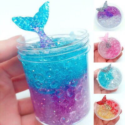 60ml Fluffy Slime Crunchy Foam Squeezed Fishbowl Beads Crystal Mud Toys Kids