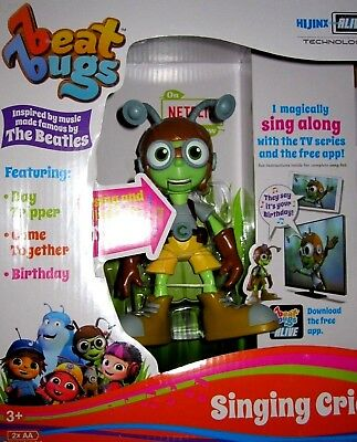 """Beat Bugs Hijinx Alive Technology 6"""" Singing Crick Toy Figure Sing Up And Light!"""