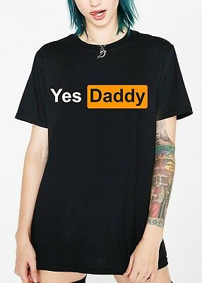 Yes Daddy Porn T Shirt  - Anal Women's Cropped Crop Top - Cute Sexy Ladies