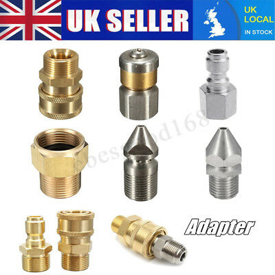 High Pressure Washer Sewer Pipe Laser Spinning Cleaning Jet Drain Nozzle UK