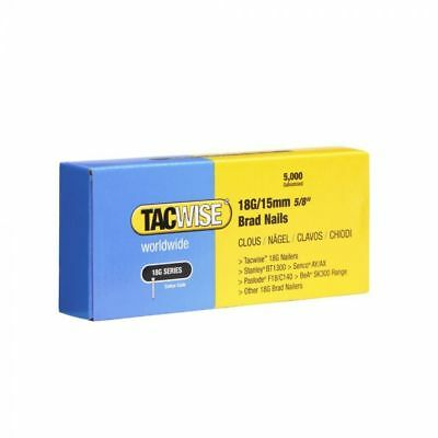 Tacwise Brad Nails (Boxed 5000) 18g/15mm