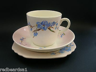 T.F.& S Vintage Art Deco English BONE CHINA TRIO Cup Saucer Plate Hand Painted