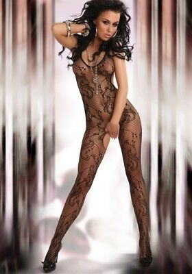 Damen Bodystocking Lingerie sexy Catsuit Dessous Eden black