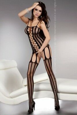Damen Bodystocking Lingerie sexy Catsuit Dessous Almas black