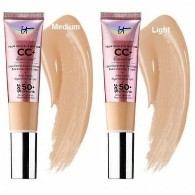 IT cosmetics CC Cream + Serum 50+ SPF Light Medium