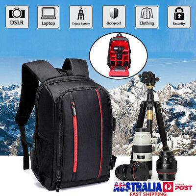 Large Waterproof DSLR Camera Backpack For Canon Laptop Lens Case Shoulder Bag