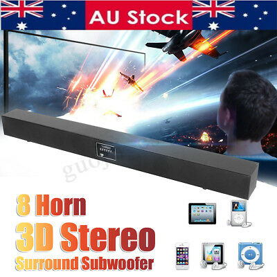 3D Sound Bar Box Subwoofer Speaker System Wireless bluetooth TV Home Theater RC
