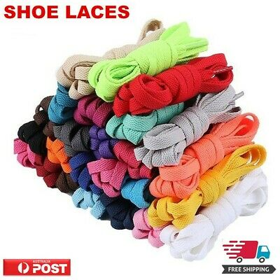 Shoe laces Flat Colorful Colored Bootlace Sneaker and  Runners Shoe Laces AU