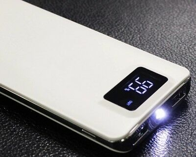 10000mAh Portable Power Bank External Battery Charger For Mobile Phone LED 2 USB