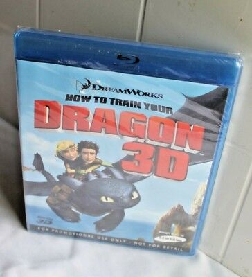 How To Train Your Dragon 3D Blu-ray 2010 Rare Promo Edition No UPC Sealed!