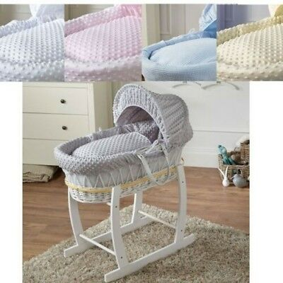 Wicker Moses Basket avec Support